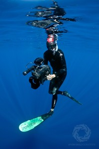 Josh Jensen freediving-underwater-filming-bluewater
